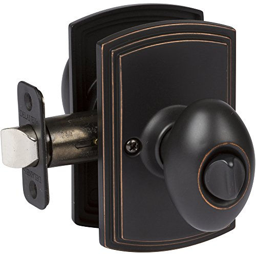 (Delaney Hardware 102T-CN-US10BE-Privacy Canova Knob Privacy, Edge Oil Rubbed Bronze)