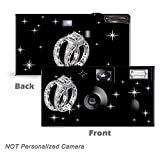 5 Pack - Shimmering Engagement on Black Disposable Cameras, Wedding Camera, Anniversary Camera, Sweet 16, Quinceañera, party cameras from CustomCameraCollection WM-53680-C