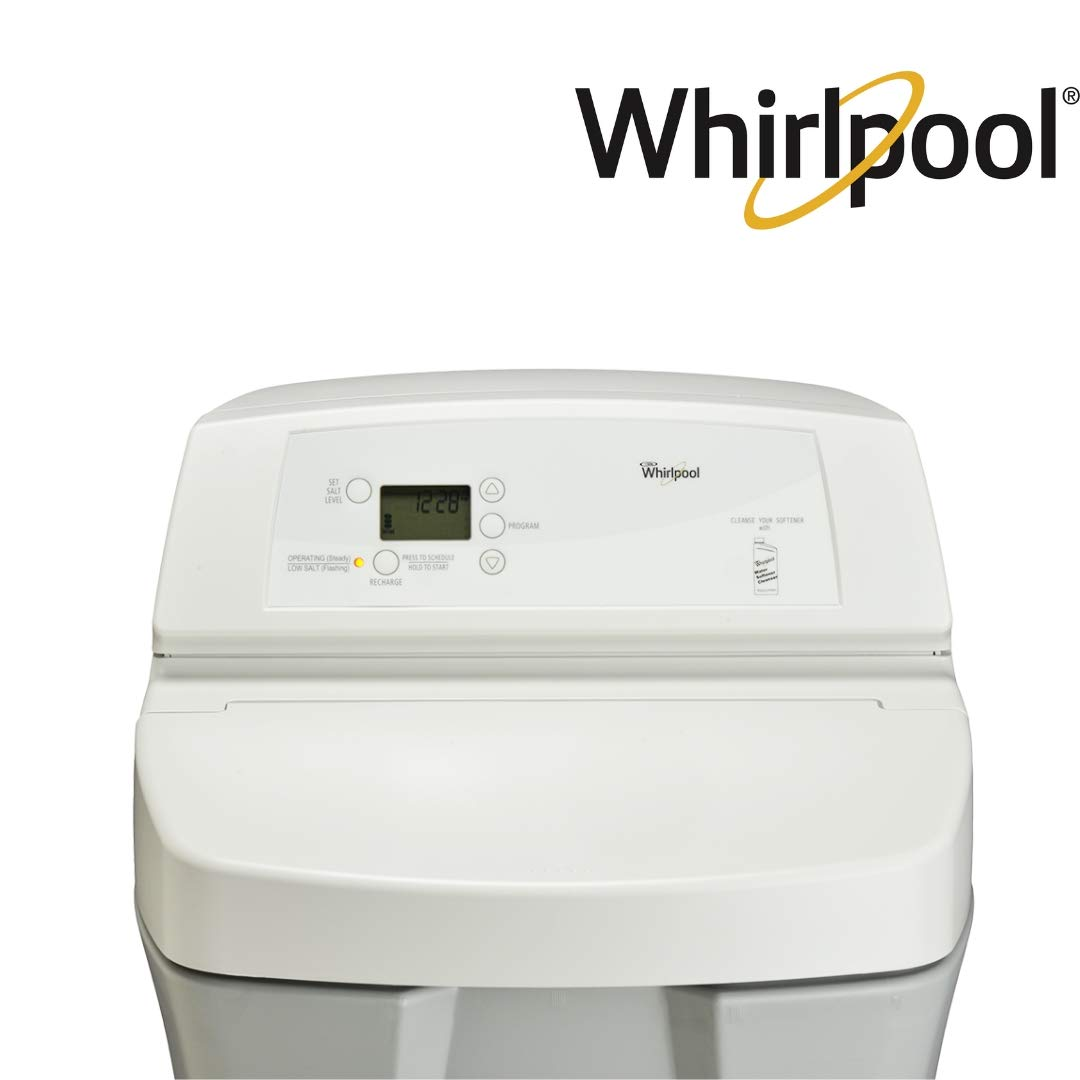 Whirlpool WHES30E 30,000 Grain Water Softener-Built in USA-Demand Initiated  Regeneration-NSF Certified, Off- Off-White