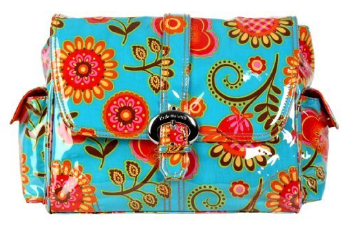 Kalencom Laminated Buckle Bag, Tuscany Turquoise by Kalencom