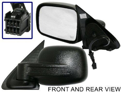 - JEEP LIBERTY 02-07 SIDE MIRROR LEFT DRIVER, POWER, HEATED, FOLDING, KOOL-VUE