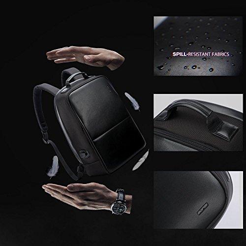 Vielseitig Oxford Tuch Rucksack Anti-Diebstahl 17 Zoll Laptop Paket Mit USB-Ladeanschluss black medium 751-006431