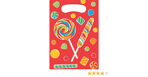 Sugar Buzz Creative Converting-Toys 030024 8-Count Birthday Party Favor Bags