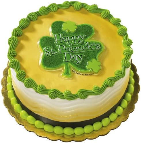 Magnificent Amazon Com Deco Pac Adult St Patricks Day Glitter Shamrock Cake Personalised Birthday Cards Cominlily Jamesorg