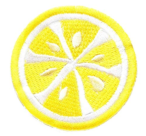 PP Patch Fruit Vitamin C Sliced Orange Lemon Slices Cartoon Kids Bags Jackets Jeans Clothes Embroidered Iron on Patch Stickers Novelty Iron on Sign Badge Costume for Gift Birthday