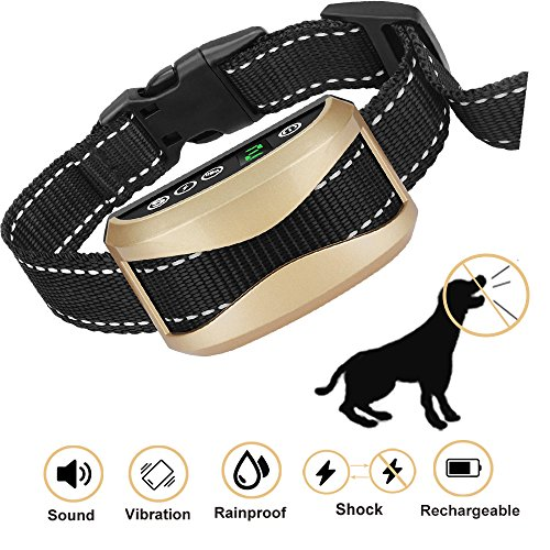 WeyRack Bark Collar[2018 Upgrade Version] No Bark Control,Shock Collar with Beep,Vibration, Harmless Shock for Small/Medium/Large Dogs, Waterproof Dog Barking Collar. by WeyRack