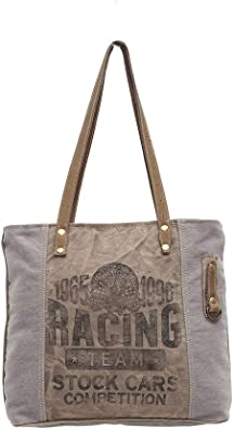 Amazon Com Myra Bags Racing Team Upcycled Canvas Tote Bag S 0937 Shoes Initially ladies used to tote these kind of bags with them to carry multiple items like books, stationery, makeup. myra bags racing team upcycled canvas tote bag s 0937