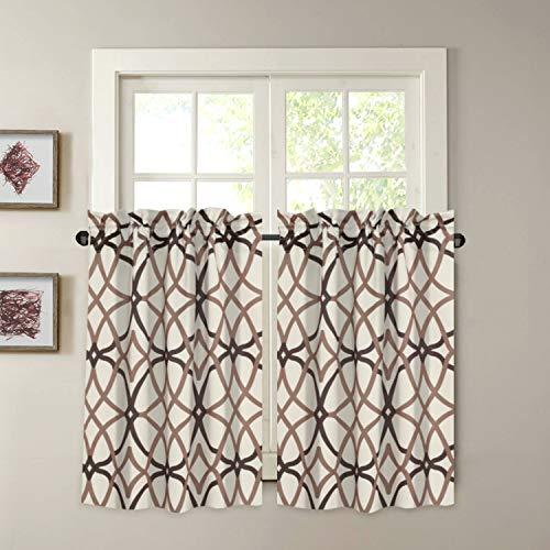 H.VERSAILTEX Blackout Kitchen Curtains Energy Saving Ultra Soft Kitchen Half Window Curtains
