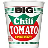 Nissin BIG Cup Noodle Chili Tomato Flavor 105 g x 12 Packs (Japan Import)