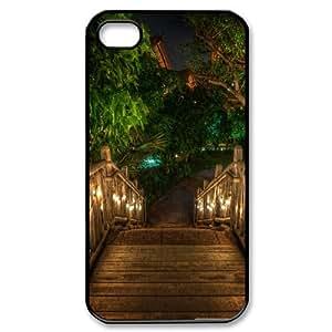 Wooden Bridge IPhone 4/4s Case, Iphone 4 Cases for Girls Elegant Design Evekiss - Black