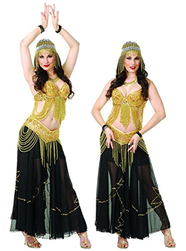 Beaded Harem Girl Belly Dancer Egyptian Costume -
