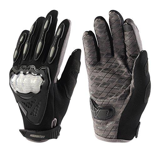 Lidauto Motorcycle Gloves Motocross Moto Racing Full Finger Men Women Touch Screen,silver,M