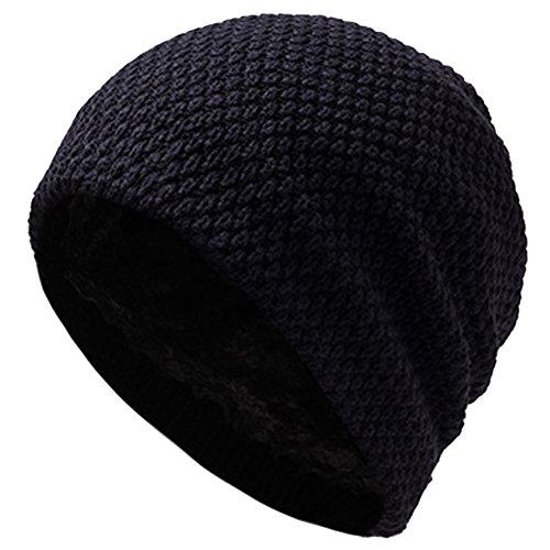 Invierno Orejas Punto las Cabeza Proteger Sombrero Tosado ROBO Negro de Turbante Rwdq47ZZx