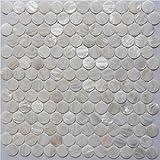 Penny Round Mother of Pearl Tile Seashell Tile Bathroom Wall Tile Kitchen Bathsplash Tile