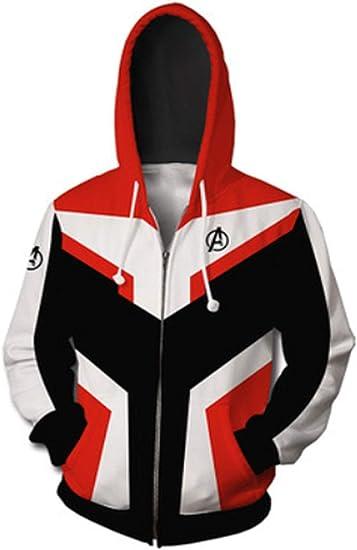 Avengers Endgame Avengers 4 Sweatshirts Final Battle Quantum Warrior Zip Hoodies