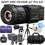 Sony NEX-FS700R Super 35 Camcorder With CS Pro Kit: Includes 2 64GB SDXC Memory Cards, SD Card Reader, 2 Sony NP-F970 Replacement Batteries, Rapid Travel Charger with Car Charger, Boom Mic, Full Size Aluminum Tripod, Carrying Case, Brush Blower, LCD Scree