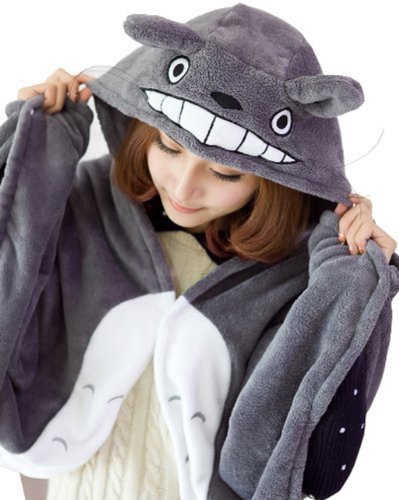 Totoro Dress Costume (Umart Anime Cosplay Totoro Ghibli Costume Cloak Shawl Cape)