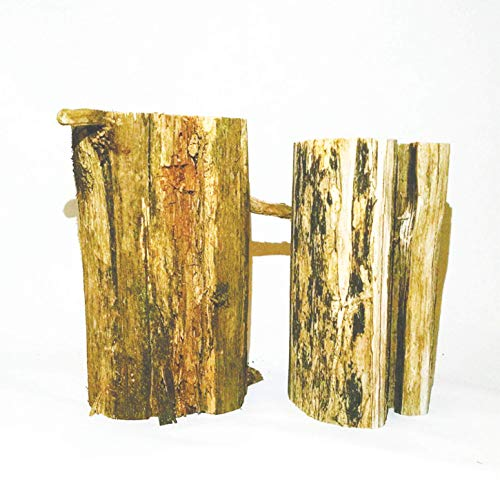 Wooden Cedar Stumps, 2 Stumps, 3 Inches Diameter, 5.25 Inches High, Rustic Bark Left On; for Weddings, Crafts, Wood Art, Engraving, Candle Holders