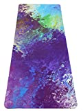 Heathyoga Pro Non Slip Rubber Yoga Mat with Body Alignment Lines, Free Carry Bag, Durable Rubber Base+Revolutionary Skin-Friendly and Wet-Grip Surface. (Lavendar)