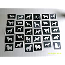 25 x dog paw in heart stencils for etching on glass mixed gift present glassware hobby craft