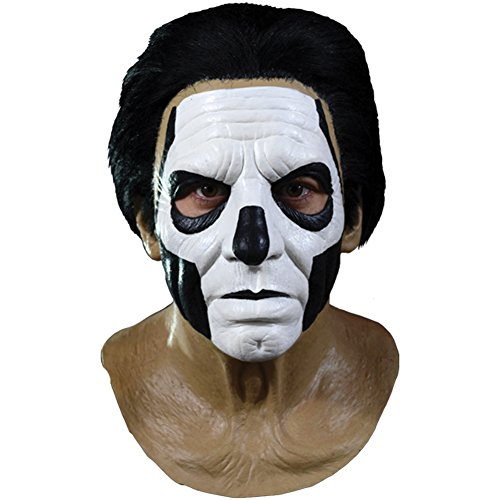 Ghost Papa III Standard Full Head Mask, Brown Black White, (Voodoo Mask)