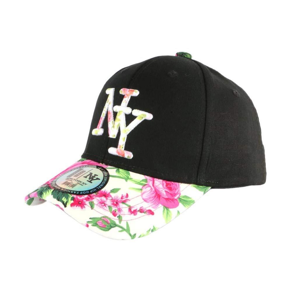 Hip Hop Honour - Gorra NY para niño, Color Rosa y Negro Rosa Talla ...