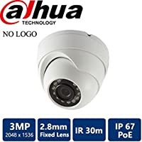 Dahua [Amazing DEAL] HDW1320 3MP Megapixel IP POE Outdoor Eyeball Dome, IR30M infrared, POE, 2.8mm fixed lens (NO LOGO Original Housing Local Support)