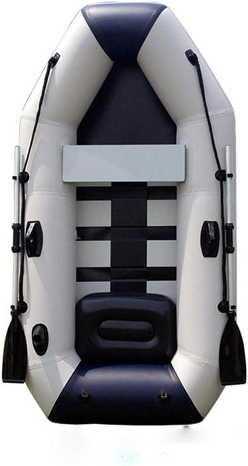 漁船 ポリ塩化ビニールの膨脹可能なシラカバの底カヤック2.85m 4の厚いパッドを入れられた網の革ボート (色 : 白, サイズ : 285x136cm) 白 285x136cm