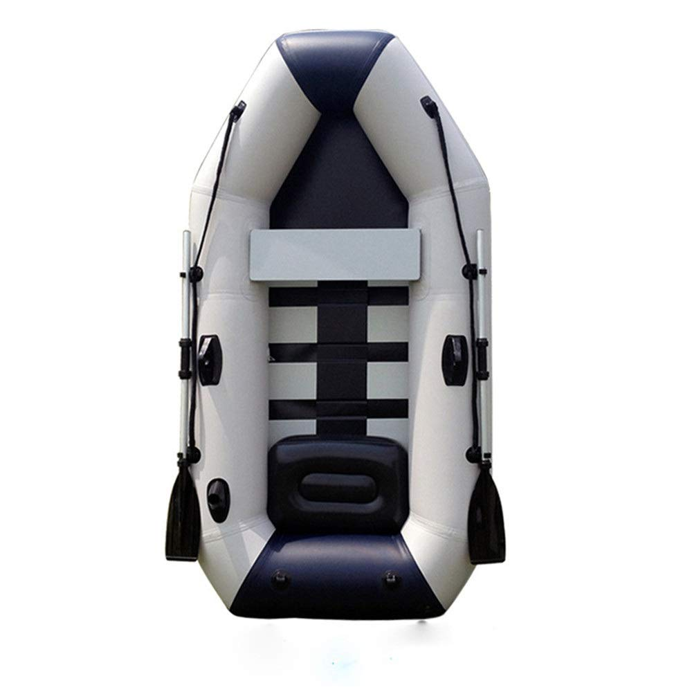 Durability Inflatable Kayaks Durable PVC Inflatable Birch Bottom Kayak 2.85m Four Thick Padded Net Leather Boat (Color : White, Size : 285x136cm) by BoeWan