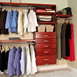 84'' Wide Closet System Finish: Red Mahogany