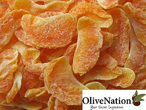 Orange Orange Sugar Slices (OliveNation Dried Tangerine Wedges - 100% Natural Amazing Dried Tangerines Slices - Size of 16 oz)