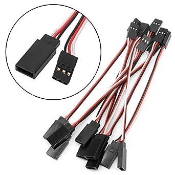 10Pcs150mm 3-Pin Servo Extension Lead Wire Cable Cord JR Male Female Futaba E2W8