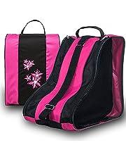 Roller Skate Bag, Ice Skate Case Triangle Skate Bag Oxford Cloth Skate Shoes Carry Case Waterproof Skate Tote with Adjustable Shoulder Strap for Kids&Adults Skate Accessories