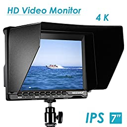 Neewer NW74K 7 Inch Ultra HD 1280x800 IPS Screen Camera Field Monitor Support 4K input for Sony Canon Nikon Olympus Pentax Panasonic SLR DSLR Cameras