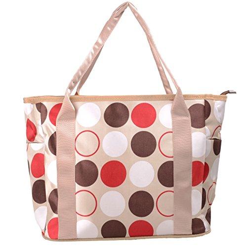 Babyhugs® Cute diseño cambiador 3piezas Bolso cambiador de pañales bolsa Set incluido morado Tote - Large Flowers Tote - Spots