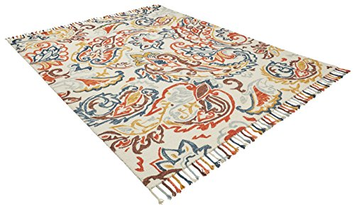 Stone & Beam Swirling Paisley Motif Wool Area Rug, 8' x 10', Multi by Stone & Beam (Image #3)