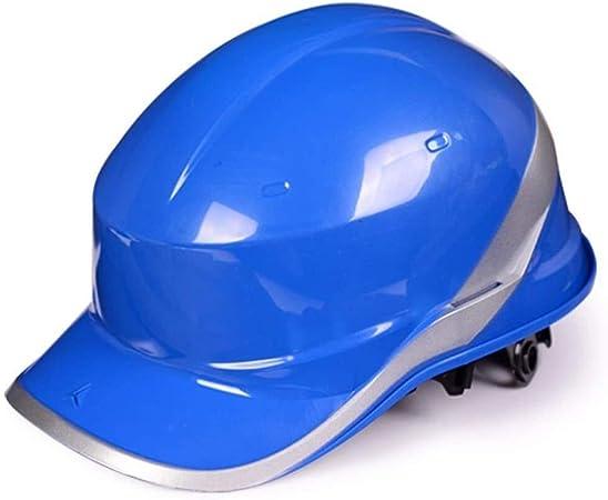 ZBM-ZBM Casco De Seguridad De Construcción - Casco ABS De Alta Resistencia Casco Estilo Diamante con Gorra De Béisbol Diamond V (Color: Blanco) Casco de Seguridad Industrial (Color : Blue): Amazon.es: Hogar