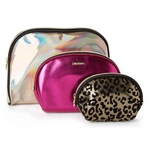 8c0322070 upc 888273999388 product image for Juicy Couture Cosmetic Makeup Bags: Compact  Travel Toiletry Bag Set
