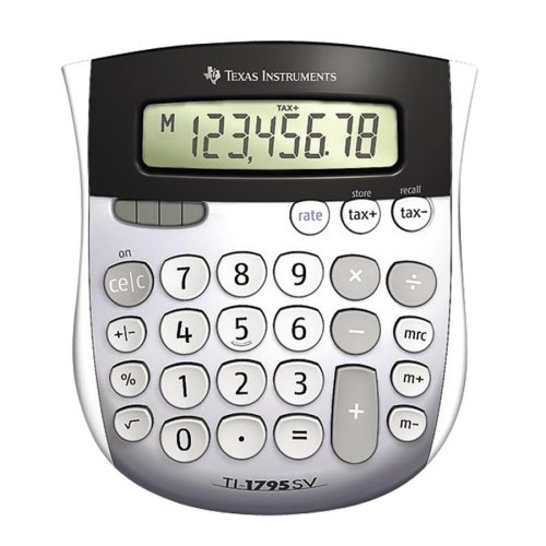 Wholesale CASE of 15 - Texas Inst. Angled 8-Digit Display Calculator-8-Digit Solar Display Calculator,4-7/8''x5-2/3''x1'',Gray by TEX