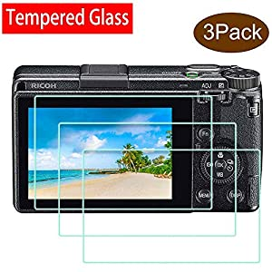 51olloo9JxL. SS300  - GR III Screen Protector for Ricoh GR III Digital Camera,ULBTER 0.3mm 9H Hardness Tempered Glass Ricoh GRIII Screen Saver…