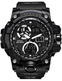 Men's Digital Analog Sports Watch Waterproof & Shock...