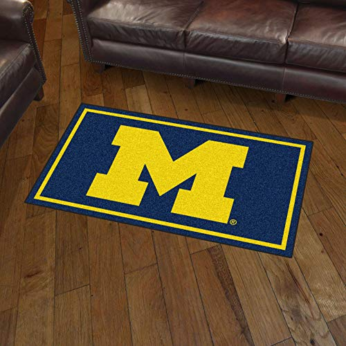 - NCAA Michigan Wolverines 3 Ft. x 5 Ft. Area RUG3 Ft. x 5 Ft. Area Rug, Navy, 3' x 5'