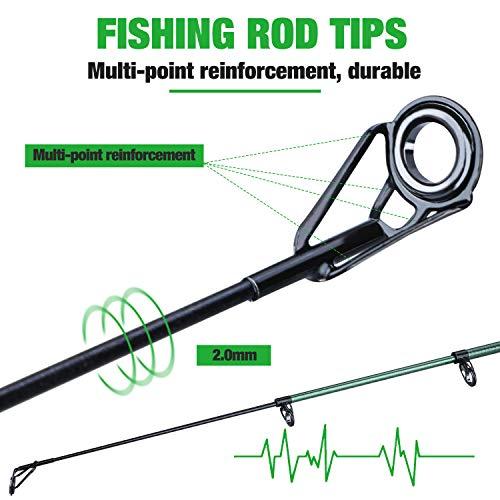 Sougayilang Telescopic Fishing Rod - 24 Ton Carbon Fiber,CNC Machined Reel Seat, Comfortable EVA Handle, Travel Fishing Rod for Bass Trout Fishing