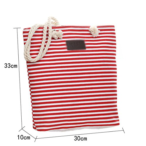 Beach Canvas Oversized Shoulder Travel Handle Bag Tote Bag Holiday Fashion Cotton 2 Bag Bag Shopping Meliya Red xCT500