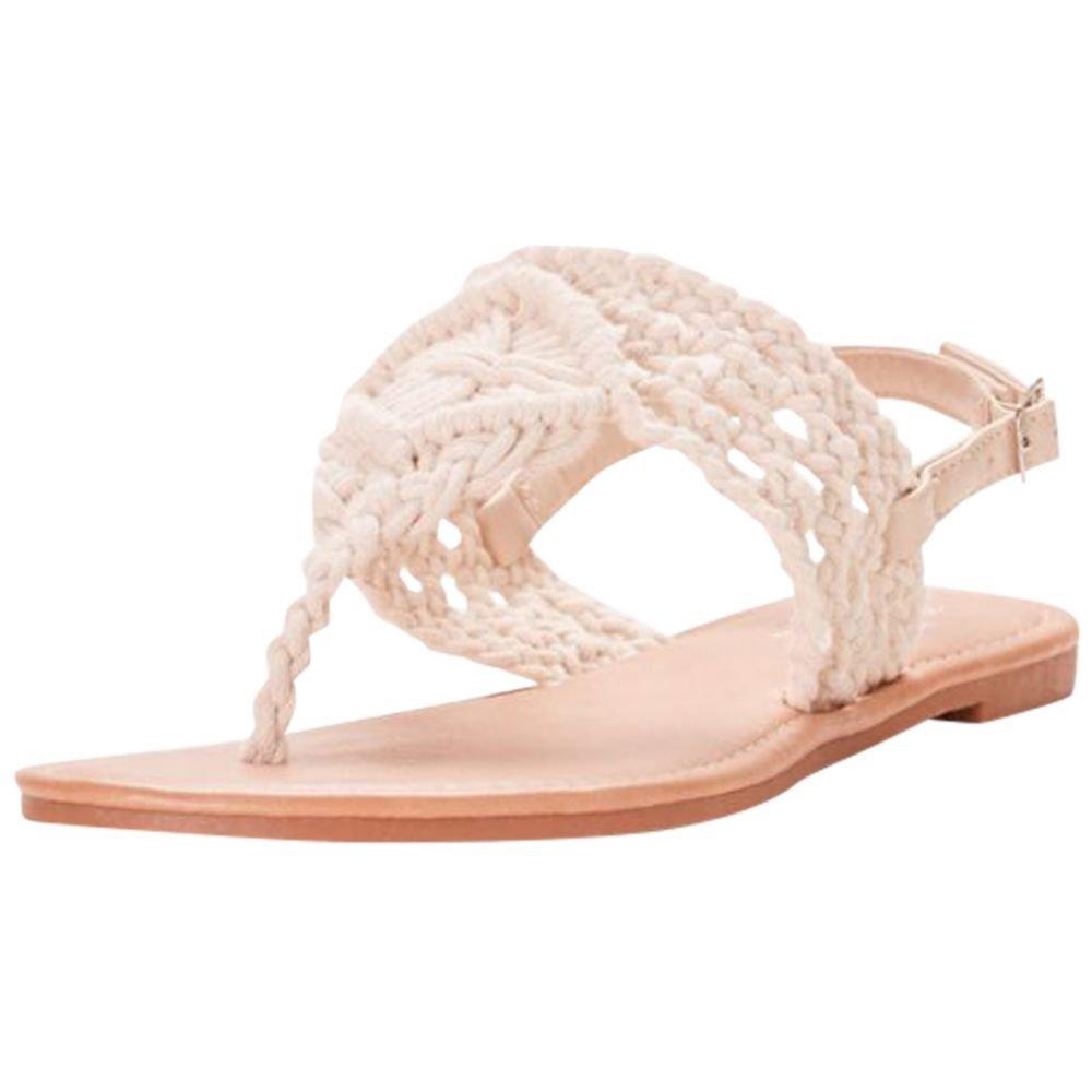 David's Bridal Macrame-Weave Slingback Sandals Style Brooklyn, Ivory, 10