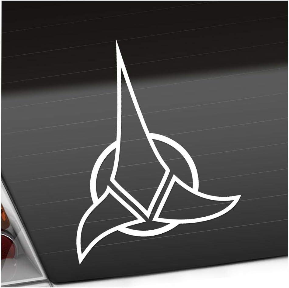 Klingonen 10 X 12 5 Cm In 15 Farben Neon Chrom Sticker Aufkleber Auto