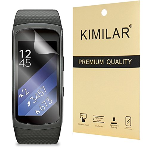 Samsung Gear Fit 2 Displayschutzfolie, KIMILAR (6-Pack) Screen Protector für Samsung Gear Fit 2 (Gear Fit II) HD Anti-Luftpolsterfolie zu löschen