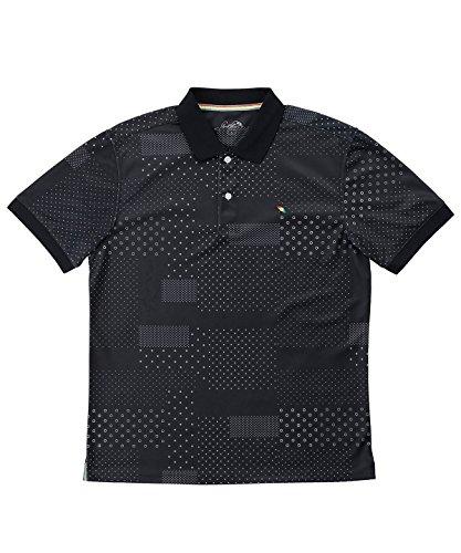 アーノルドパーマー メンズ ゴルフ ポロシャツ 半袖 総柄DOT半袖ポロシャツ AP220101H08 BK M