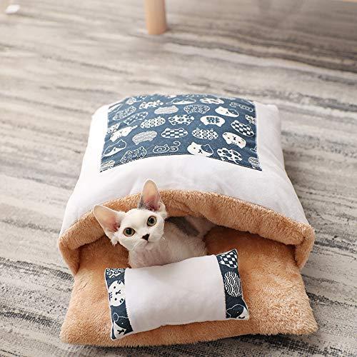 Bcamelys Lit de Chat pour des Chatons Dormant Sac De Couchage Chat Lavable 45 * 30cm