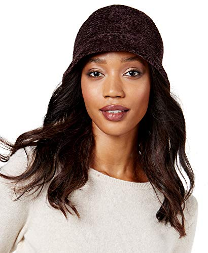 - August Hat Women's Chenille Crochet Cloche Hat, One Size (Brown)